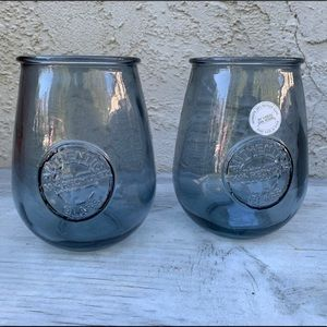 Set of 2 Vidrios San Miguel Recycled Glass Wine